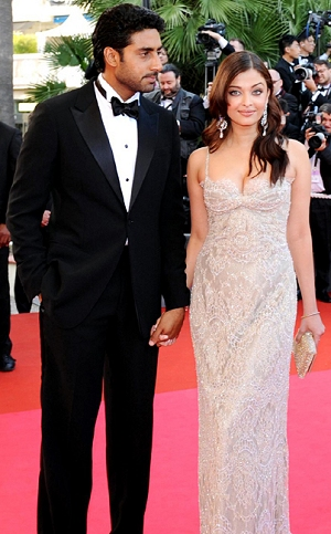 Aishwarya Rai with her hubby at the Cannes Film Festival 2008