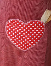 Valentine Heart Pocket Apron