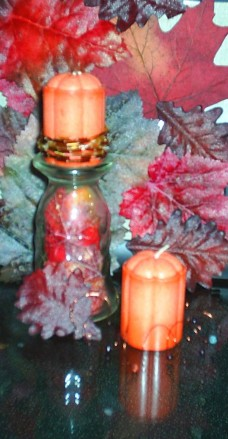 Beaded Thanksgiving Candles, Thanksgiving Decor and Craft Project