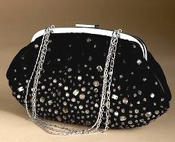 Beaded Velvet Clutch Bag - Holiday Fashions 2007