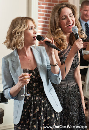 Kristen Wiig's engagement party dress and blazer in Bridesmaids movie