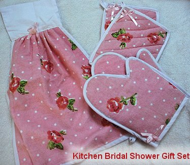 Sewing Project   Kitchen Bridal Shower Gift Set   Towel, Mittens U0026 Pot  Holders