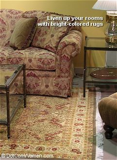 Bright Rugs add color to dull and boring rooms