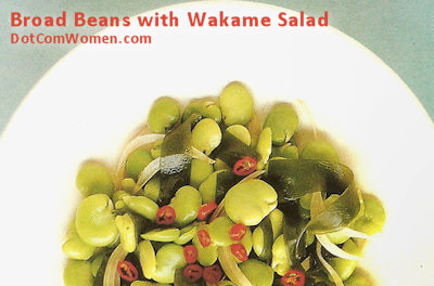 Broad Beans with Wakame Salad - Japanese Recipe