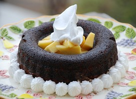 Chocolate Glazed Mango Delight Bundt Cake Recipe