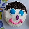 Clown Face Chocolate Cupcake