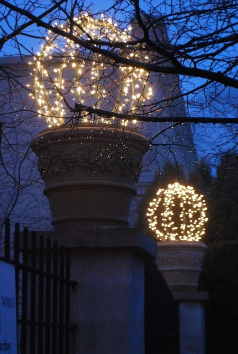 DIY Christmas Topiary Light Balls : christmas light spheres outdoor - www.canuckmediamonitor.org