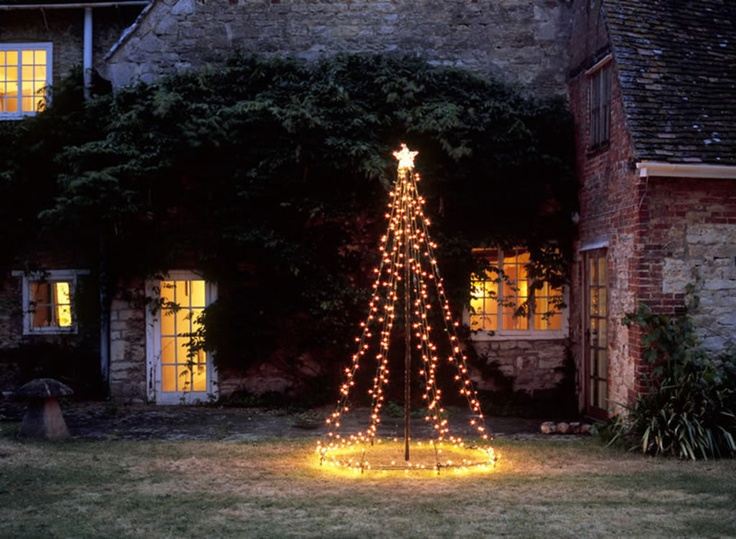 Diy christmas light decoration ideas outdoor christmas for Christmas tree lawn decoration