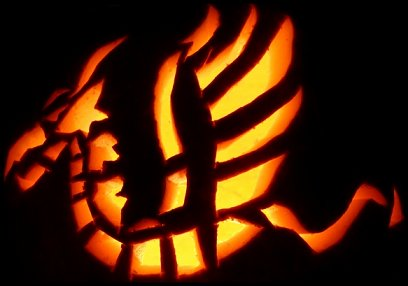 Dragon Pattern for Pumpkin Carving
