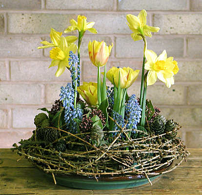 Daffodil & Tulips Flower Arrangement for Easter