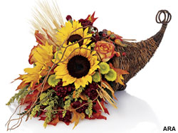 Fall Decorating with Fresh Flowers