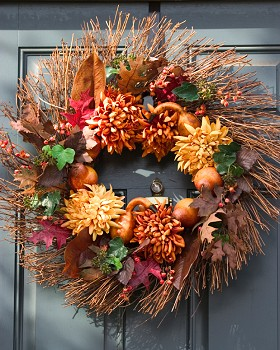 Rustic Blossoms Fall Wreath