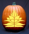 Decorative Floral Design Pumpkin Carving Pattern
