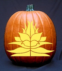 Floral Design Pumpkin Carving Pattern