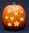 Pretty Flowers Pumpkin Carving Pattern