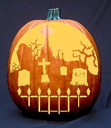 Graveyard Pattern - Free Pumpkin Carving Patterns