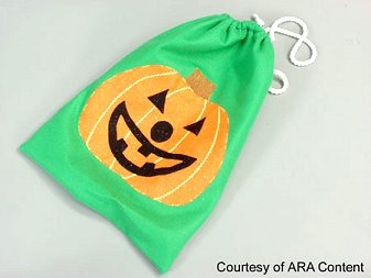 Fun fabric bags for halloween
