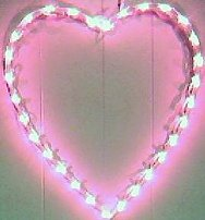 Lighted Valentine hearts