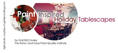 Paint Inspired Holiday Tablescapes
