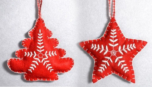 Felt christmas ornaments diy crafts dot com