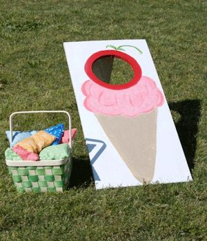 Ice cream party games dot com women for Bag decoration games