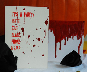 Blood-Stained Halloween Party Invitation - Dot Com Women
