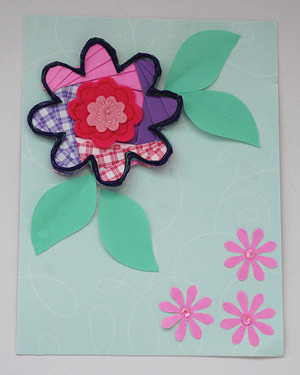 Iris Folding Flower Card - Handmade Card Making Project