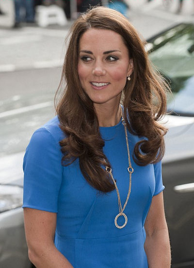 Kate Middleton's Cartier Gold Chain with Hoop Pendant