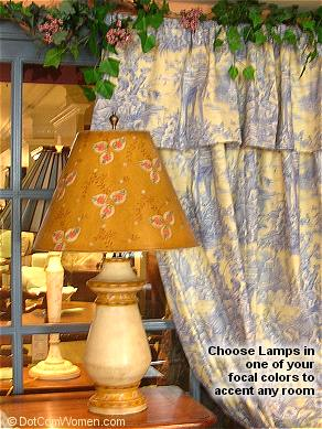 Lamps can add instant appeal to almost any room