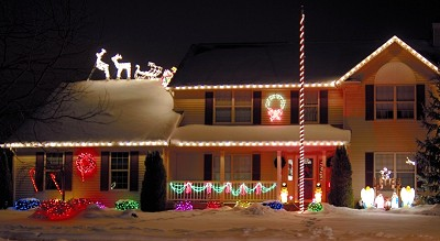 Santa's Sleigh Lights Display