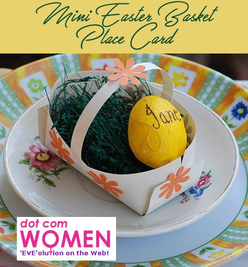 Mini Easter Basket Place Card - Easter Table Decorating