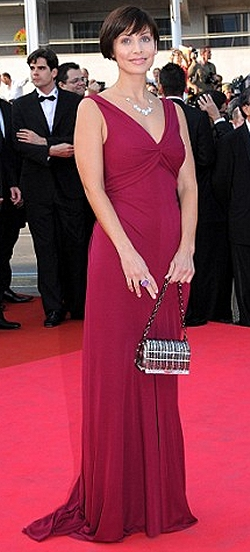 Natalie Imbruglia at the Cannes Film Festival 2008 dressed in Alberta Ferretti