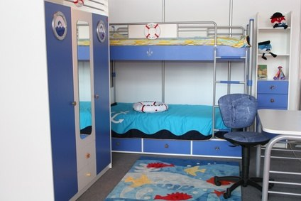 Twin/Bunk Bedroom – Nautical Theme – Kids' Room Decorating Ideas