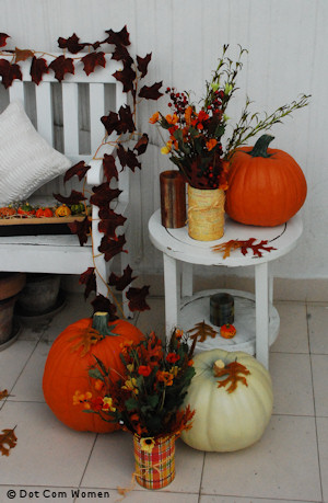 Outdoor/Porch Fall Table Displays