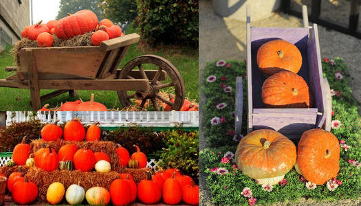 Outdoor Fall Decorating with Pumpkins