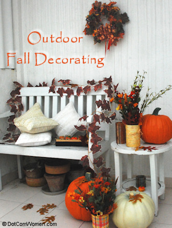 Outdoor Fall Porch Decorating