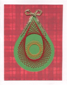 Paper Embroidery Christmas Ornament Card