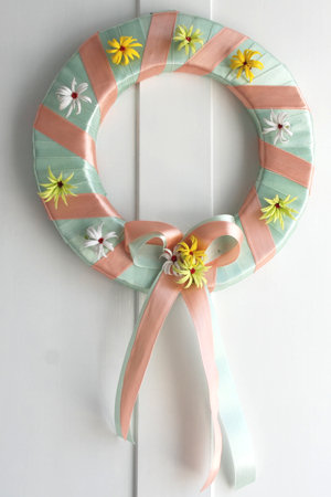 Pastel Spring Wreath For Easter