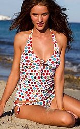 Polka Dot tankini This brightly polka-dotted bikini really makes a statement ...