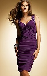 Purple dress with jeweled straps - Holiday Fashions 2007