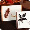Quilled Fall Leaf Place Cards