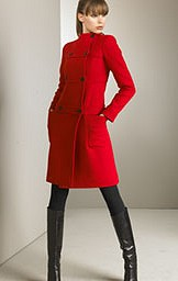 Classic Red Military Coat by Valentino - Holiday Fashions 2007