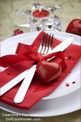 Valentineu0027s Day Table Decoration and Place Setting & Valentineu0027s Day Table Setting Ideas - Dot Com Women