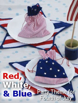 Red, White and Blue Fourth of July Party Theme