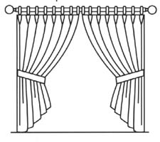 Panels Hung From Rings And Can Be Hand Drawn To Open Or Close. Headings Are  Usually Pinch Pleated. Rings May Be Sewn On Or Attached Drapery Hooks.