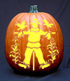 Scarecrow Pumpkin Carving Pattern