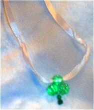 Jeweled Shamrock Pendant