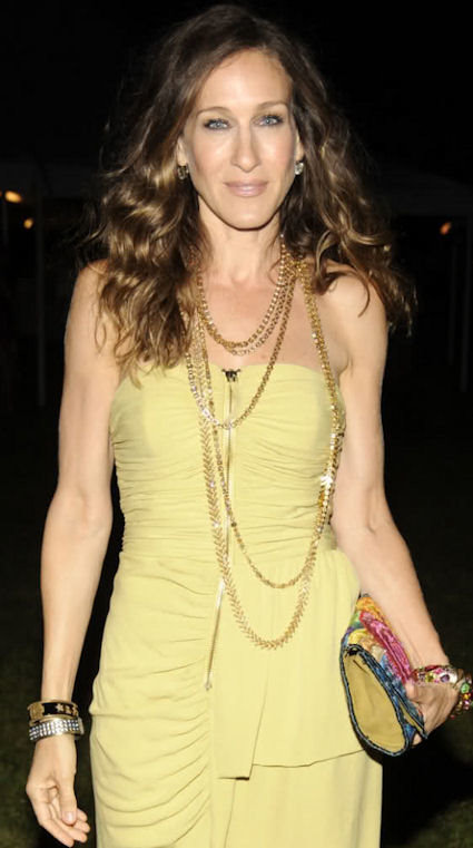 Sarah Jessica Parker wearing Layered Gold Chains