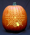 Spider Pumpkin Carving Pattern