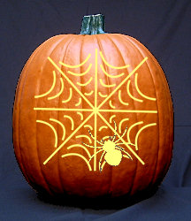 Spider's Web Pumpkin Carving Pattern